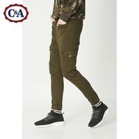 C&A男士潮流多色松紧腰修身锥形束脚工装牛仔裤秋冬款 ECD217003 *3件