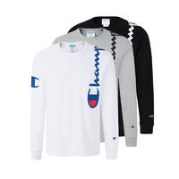 Champion男士圆领套头长袖卫衣 肩部logo款 T3822550257