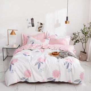 意尔嫚 三件套家纺 单人学生床上用品 全棉学生宿舍床品套件 床单被套枕套 1.2米床 心灵花园