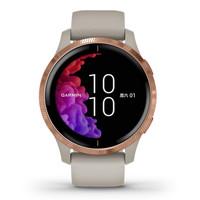 GARMIN 佳明 Venu 智能手表 43.2mm 玫瑰金 灰色硅胶表带(血氧、血压、GPS、扬声器)