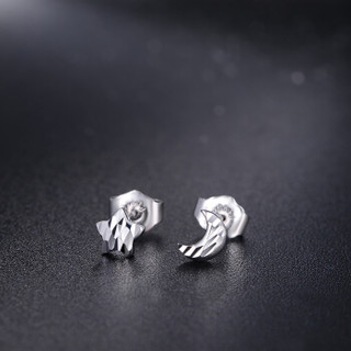 钻石凤凰 铂金耳钉女款 PT950白金耳环耳坠男女款星星月亮自由搭配 约1.13-1.18g