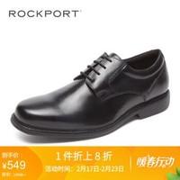 Rockport/乐步商务正装男鞋 新品系带牛皮单鞋平底V80554 V80553黑色 40