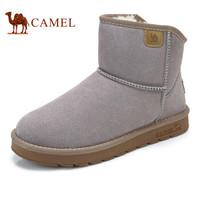 骆驼(CAMEL) 高帮男雪地靴加绒保暖男鞋 A842294124 沙色 42