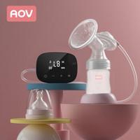 AOV 香港安姆特电动吸奶器吸乳器产妇挤奶器全自动按摩拔奶器静音6820粉 *3件