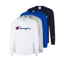 Champion男士圆领套头长袖卫衣 前胸品牌款 GT47Y07954 *2件