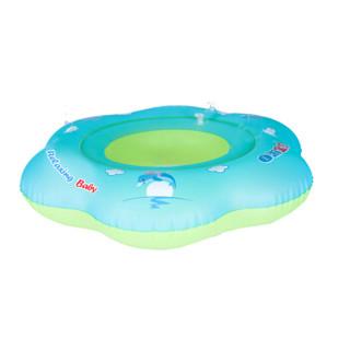 自游宝贝B1009花瓣形腋下圈坐圈 婴儿游泳圈1-6岁宝宝坐兜可拆卸多功能 送打气泵 S(6-12个月 10-24斤宝贝)
