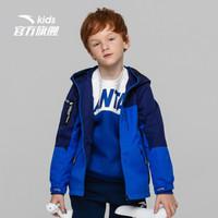 安踏(ANTA)官方旗舰店儿童童装男中大童梭织运动薄外套A35816612骑士蓝-3/160