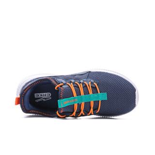鸿星尔克(ERKE)童鞋男童大童秋冬常规跑鞋童鞋运动鞋 63119303047 藏深蓝/橙红色 37码
