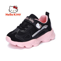 HELLOKITTY 童鞋女童运动鞋 女孩网面透气休闲潮鞋 K953A3876黑色26
