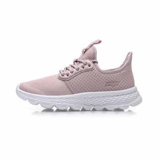 李宁 LI-NING eazGO女子舒适跑鞋AREP016-2 冰紫色-2  37.5