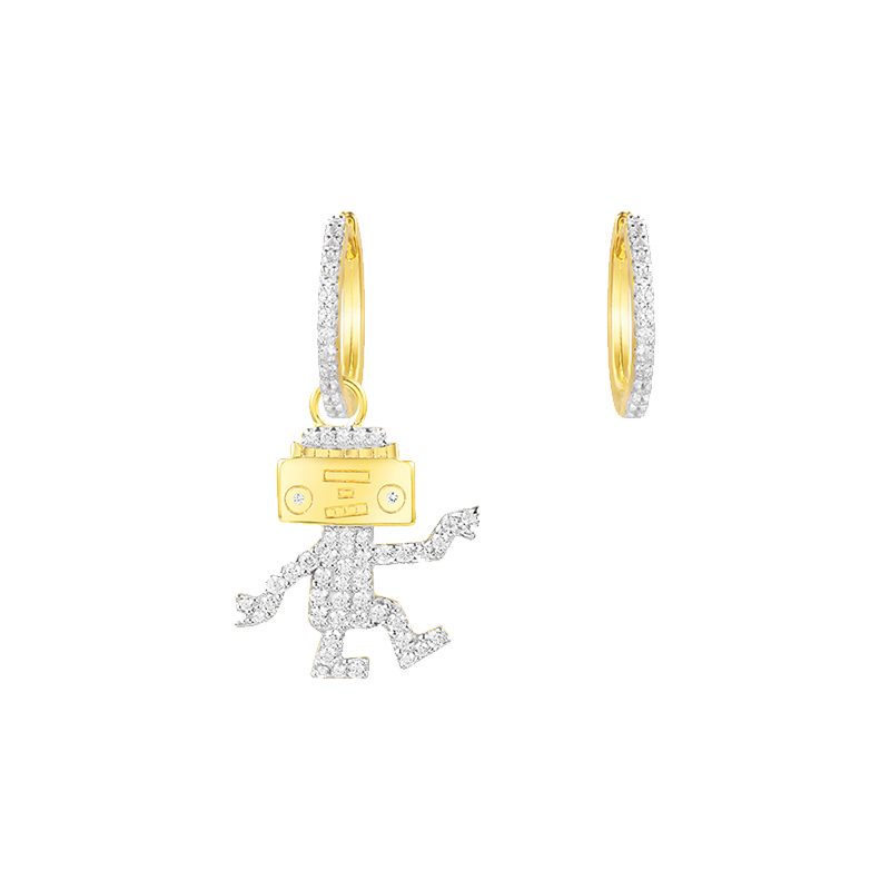 APM Monaco AE10560OXY SILVER EARRING OX 纯银耳环 金黄色