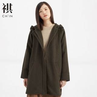 CHIN 祺 310529 女士中长款毛呢大衣