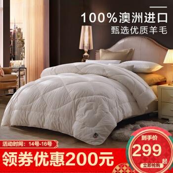 LOVO家纺 羊毛被春秋被芯 200x230cm【加厚冬被】【净重9.1斤】