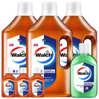 Walch 威露士 衣物家居消毒液套装1L*3+330ml+60ml*3