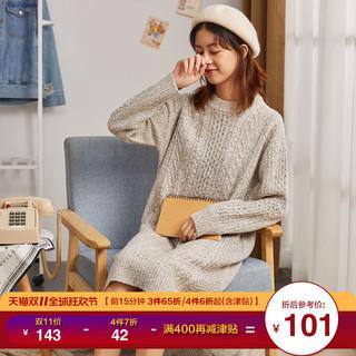 Tonlion 唐狮  624420104416 女士针织连衣裙