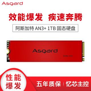 Asgard 阿斯加特 AN3+ M.2 NVMe 固态硬盘 1TB