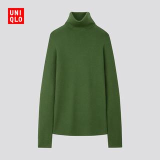 UNIQLO 优衣库 418673 美利奴罗纹两翻领针织衫