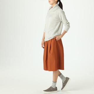 MUJI 无印良品 W8AA822 女式大樽领毛衣