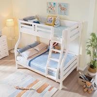 松堡王国 全实木儿童双层床 白色 1.2*1.9m
