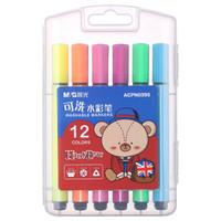 M&G 晨光 ACPN0395 小熊哈里系列 三角杆可洗水彩笔 12色 *12件