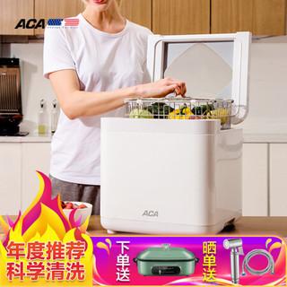 北美电器(ACA)全自动家用多功能果蔬解毒机洗菜机 机洗水果机净食机AP-FV120A