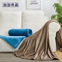 当当优品 午后暖阳防静电法兰绒毛毯盖毯200*230cm 琥珀棕