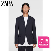 ZARA 新款 男装 条纹纹理套装西装外套07380602401