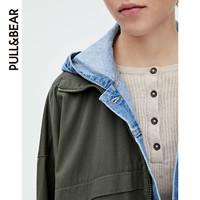 PULL&BEAR 冬女士短外套雨衣宽松韩版外套女2019新款 09714206