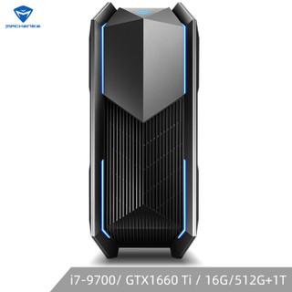 MACHENIKE 机械师 F117-V76t5 游戏主机(i7-9700、16GB、512GB PCIE+1TB、GTX1660ti )