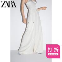 ZARA 新款 女装  宽松长裤 01608236712