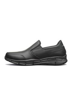 SKECHERS 斯凯奇 SPORT系列一脚蹬平底男士休闲鞋休闲皮鞋 52744 黑色 39.5