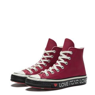 CONVERSE 匡威 563472C Chuck 70 HI 女款爱心字母印花复古高帮鞋