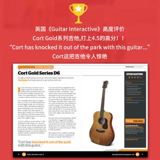 考特(CORT)GOLD O6民谣吉他40英寸开声全单板演出专业圆角原木色