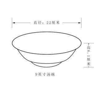 SKYTOP斯凯绨 陶瓷大汤碗骨瓷汤盆饭盆 9英寸摇曳(含汤勺)