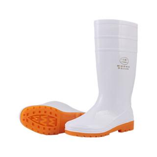 成楷科技(CK-Tech)CKF-X005 PVC白色食品级加工鞋 耐油 耐酸碱劳保防护雨鞋 三防高筒女款雨靴 38码可定制