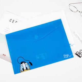 广博(GuangBo)A4粘扣文件袋学生卡通资料袋迪士尼唐老鸭颜色随机2只装IQT17400