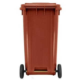 兰诗(LAUTEE)240D-4 大号户外垃圾桶 物业环卫商用带盖可挂车分类垃圾桶 可定制  240L棕色湿垃圾
