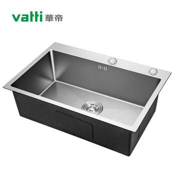 华帝(VATTI)304不锈钢手工加厚水槽洗碗池 大容量单槽洗菜盆 裸槽092106-L