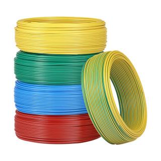 正泰(CHNT)  电线电缆 BV1.5平方50米 红色单股火线 国标家装铜线硬线 照明电源线