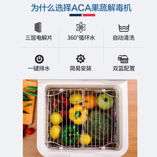 北美电器(ACA)全自动家用多功能果蔬解毒机洗菜机水果蔬菜羟基水离子杀菌消毒机洗水果机净食机AP-FV120A