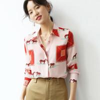 安尼纯 Anyshion T654-180 春夏女款衬衫印花上衣