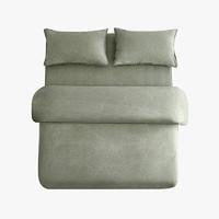当当优品 纯棉日式四件套 1.5m床 灰绿色