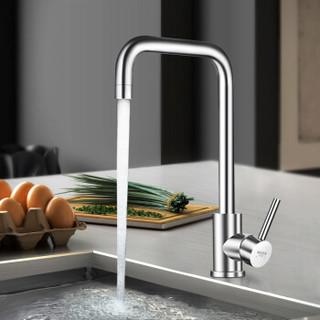 名爵(MEJUE )Z-011231 304不锈钢厨房水龙头 7字型水槽冷热龙头 360°旋转自由旋转洗菜盆水龙头