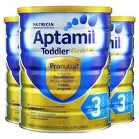 Aptamil 爱他美 金装婴幼儿奶粉 3段 900g *3罐