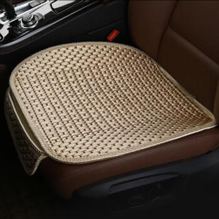 爱绿能 汽车坐垫 夏季座垫凉垫 单片冰丝3D立体汽车座垫 单张方垫前排坐垫  银色