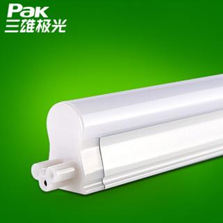 三雄极光led灯管t5灯管丽致一体化全套日光灯管暗槽装饰日光灯改造灯16W1.2米6500K白光