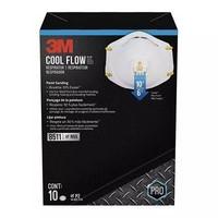 3M Cool Flow 8511 N95防护口罩面罩 带呼吸阀 十枚装
