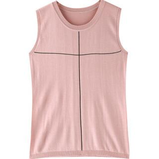 恒源祥性感黑色显瘦小吊带夏季无袖外穿背心冰丝针织女装内搭上衣 蔷薇红 170/92A/XL