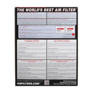 KN美国高流量可清洗空气滤清器适用于三菱帕杰罗劲畅空气格空气滤芯空滤33-2045