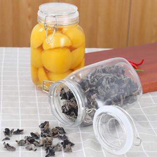 拜杰(Baijie)密封罐 玻璃瓶奶粉茶叶储藏罐 玻璃密封罐子腌制蜂蜜柠檬百香果罐子1500ml两只装 LY-164